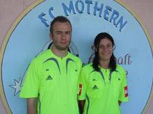 Nicolas Schmitt et S関erine Zinck, qui 関olueront en CFA 2 la saison prochaine, font la fiert� du FC Mothern.
