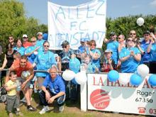 Les fid鑜es supporters du FC Altenstadt ont fait le d閜lacement � Eschbach.
