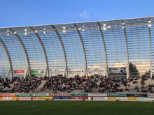 Les verts ont d閏ouvert le Stade de la Licorne � Amiens.