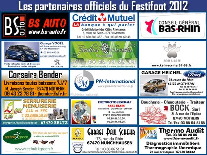J-15 avant le d閎ut de l'閐ition 2012 du Festifoot, Festival du Football Amateur du FC Mothern.