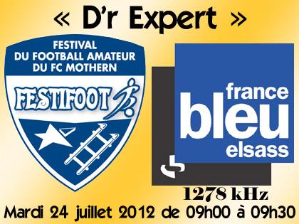 France Bleu Elsass, partenaire radio du FC Mothern.